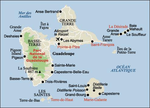 Carte - Guadeloupe et ses îles